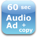60 second audio ad with copy